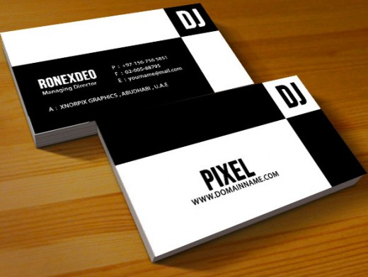20 brilliant black and white business cards colorlava dj business card reheart Image collections
