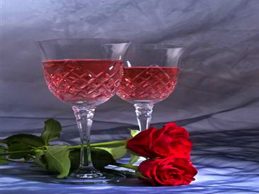 Bubbly and roses