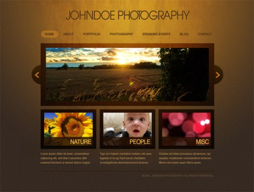 Create an Elegant Photography Web Layout in Photoshop