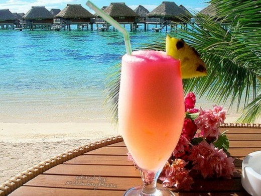 Drink at the beach