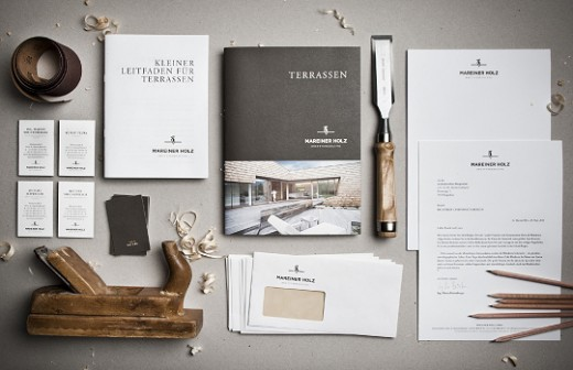 mareiner holz corporate identity design - Broken Design Holzmobel