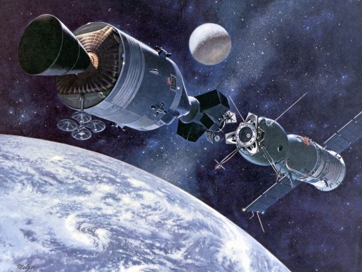 Artist's concept of Apollo-Soyuz (MIX FILE)