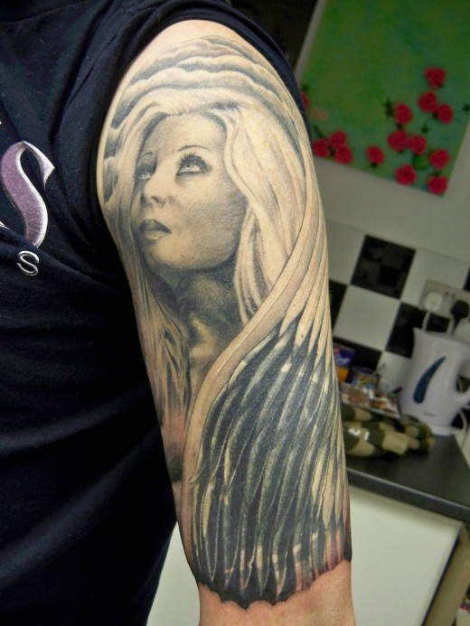Angel Half Sleeve Cover up
