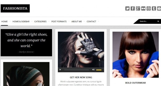 Fashionista - Responsive WordPress Blog Theme