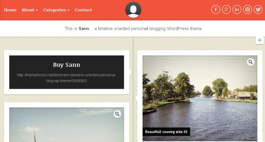 Sann - Timeline Oriented Personal Blog WP Theme