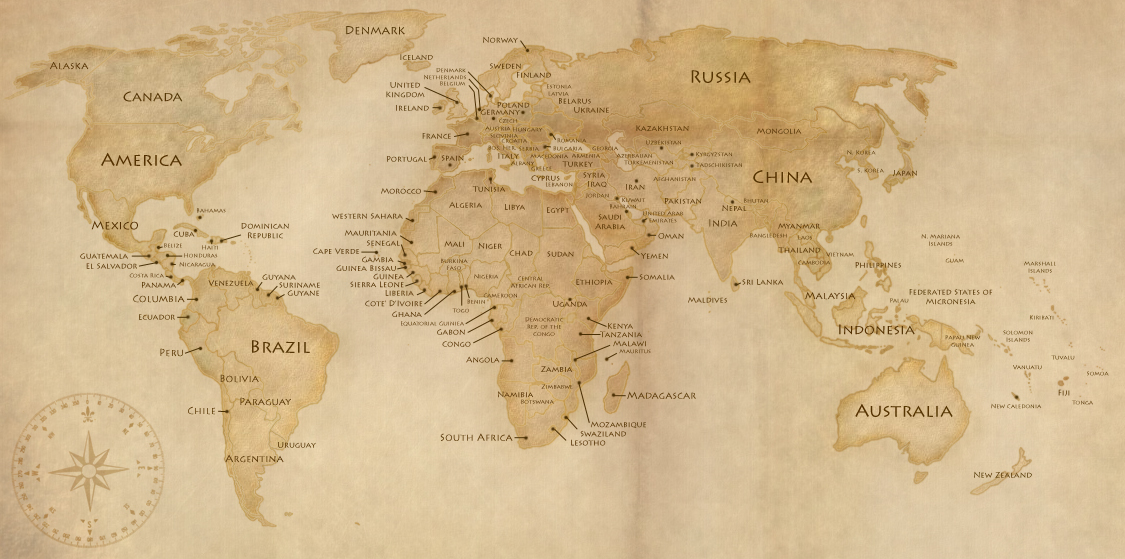 Sepia world maps design templates colorlava gumiabroncs Gallery