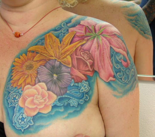 Family Flowers Tattoo