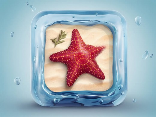 http://psd.tutsplus.com/tutorials/icon-design/starfish-icon/