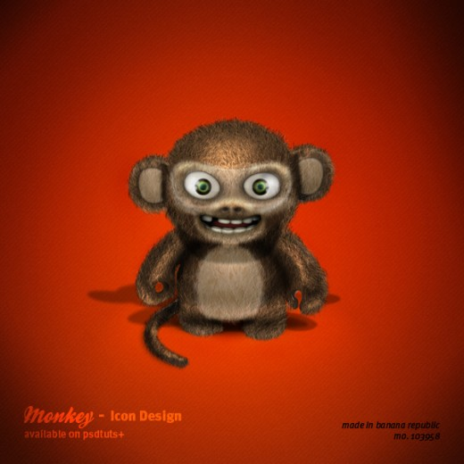 http://psd.tutsplus.com/tutorials/icon-design/evil-3d-monkey-icon/