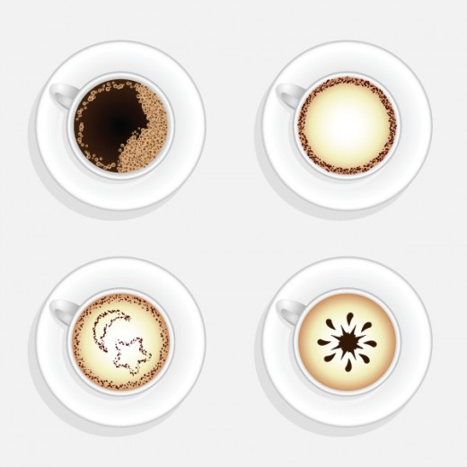 How To Create a Cup Of Coffee in Top View