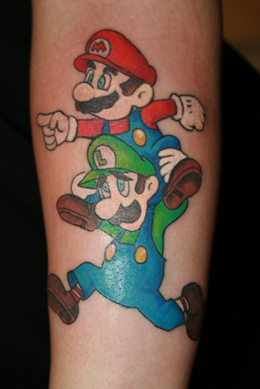 Mario Brothers Tattoo