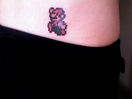 Mario Tattoo Close