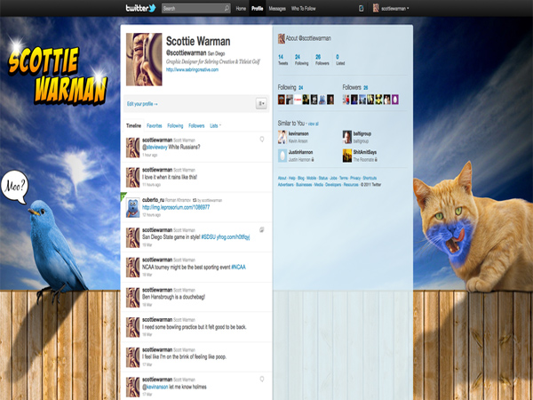 twitter - Cool Twitter Backgrounds