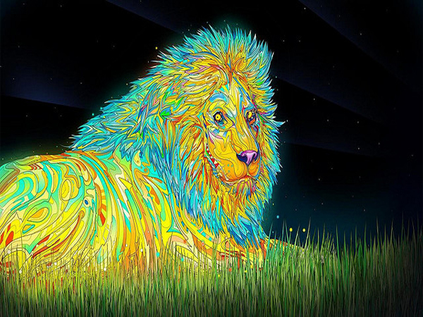 trippy-psychedelic-lion-wallpaper
