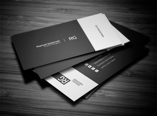 amazing black and white business card - Amazing Business Cards