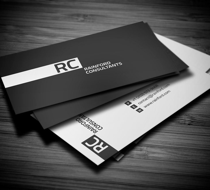 Black and White Business Cards