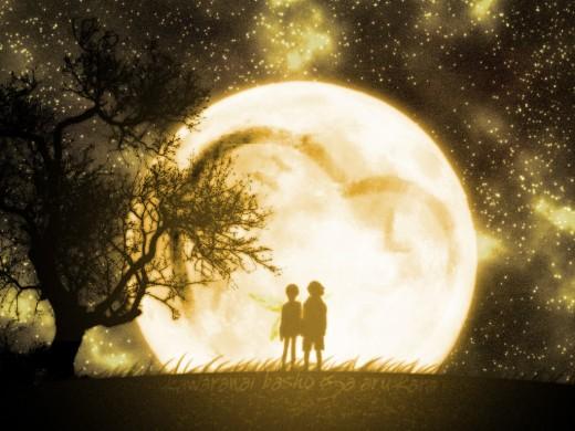 Big romantic moon