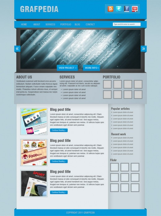 Create a Blog Web Layout With 3D-looking Elements in Photoshop