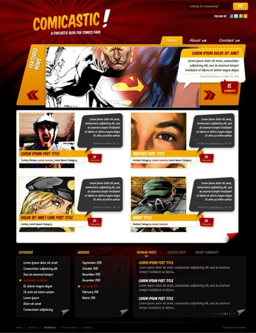 Create a Comic Book Themed Web Design
