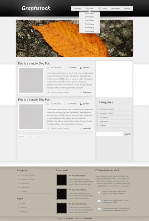 Create a gorgeous wordpress theme