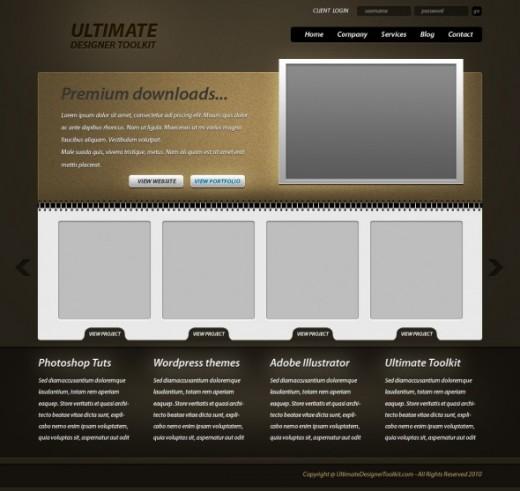 Create a gritty portfolio layout