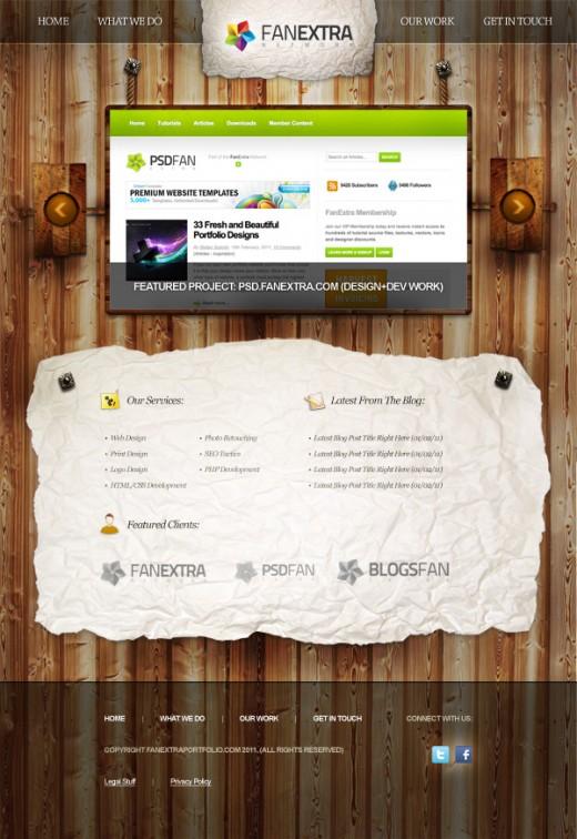 Design a Heavily Textured Portfolio Website