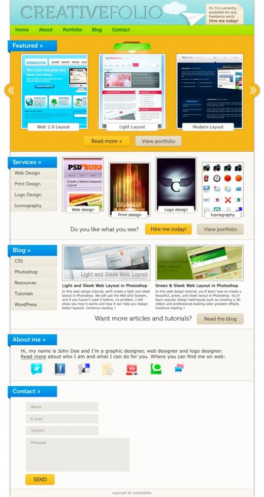 How to Make a Vibrant Portfolio Web Design