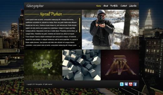 Impressive Videographer Website Portfolio Layout in Photoshop