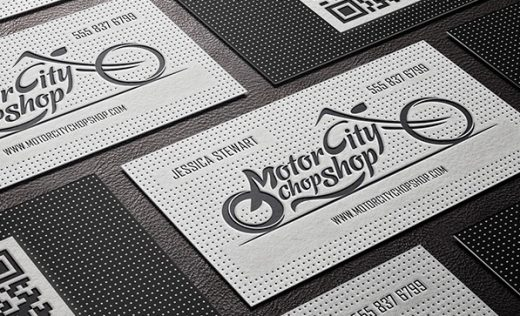 Letterpressed Embossed Business Card