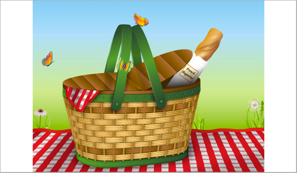 Picnic Basket - adobe illustrator tutorials
