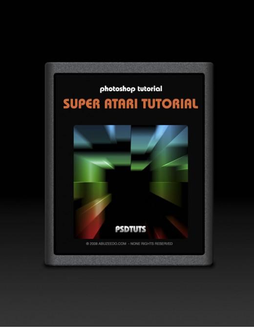 Retro Atari Game Catridge