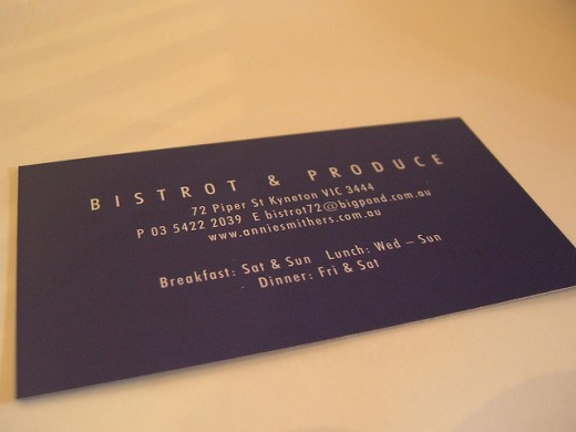 Back - Business Card