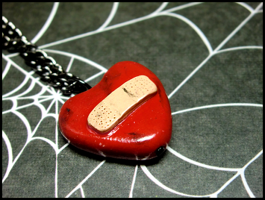 Bandaged Heart Necklace