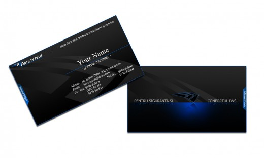 Black business card by Bogdan17