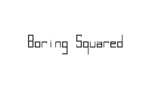 Boring Squared Thin