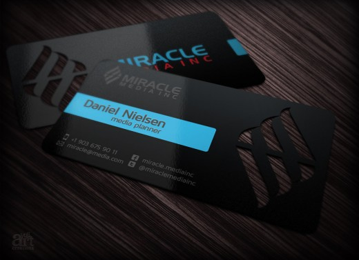Business card for Miracle Media inc