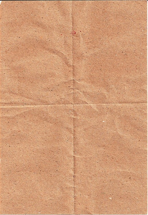 Creased Brown Paper
