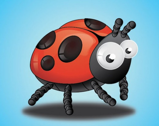 Create Lady Birds Insect Tutorial Using Adobe Illustrator