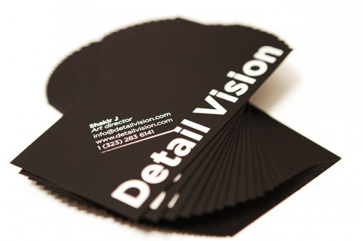 Detail Vision business cards
