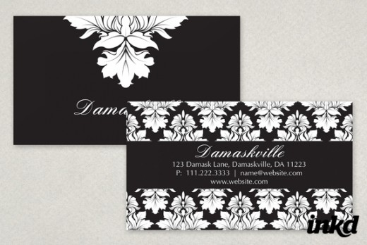 Elegant Damask Business Card