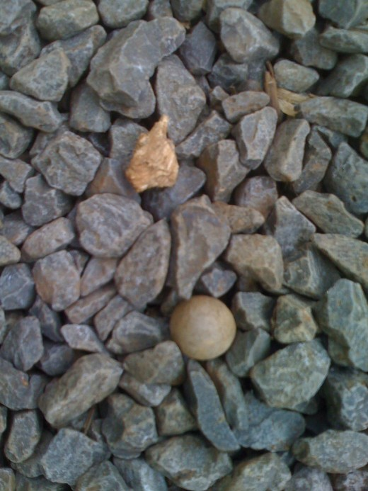 Gravel and nut