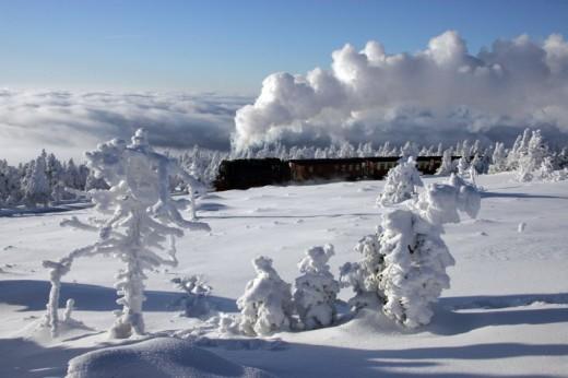 Winterwetter auf dem Brocken