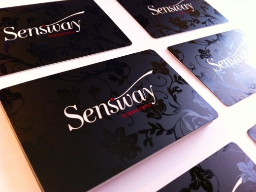 Sens'way business cards