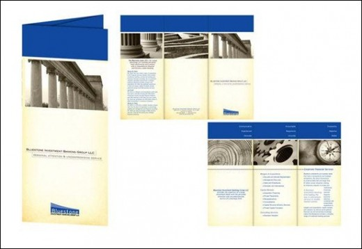 Bluestone Investment Banking Brochure Design