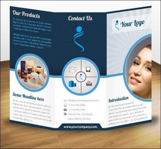 Business Product Tri Fold Brochure