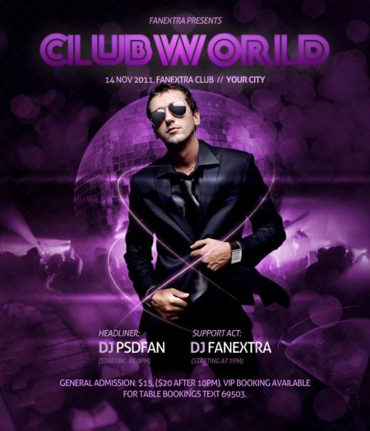 Design a Super Slick Club Poster