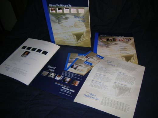 Die-cut Folder Tri-Fold Brochure and Pamphlet