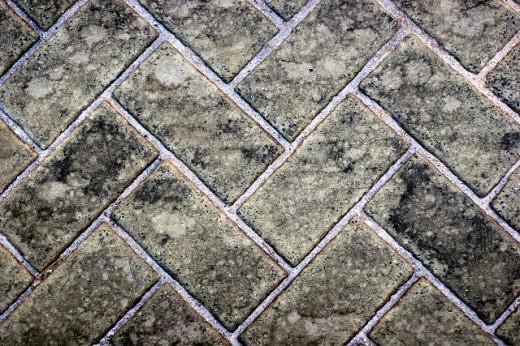 Dirty Brick Sidewalk