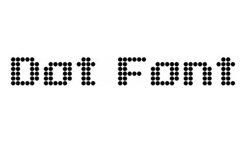 Dot Font Eng