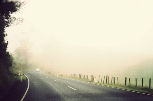 Foggy Morning Road iv